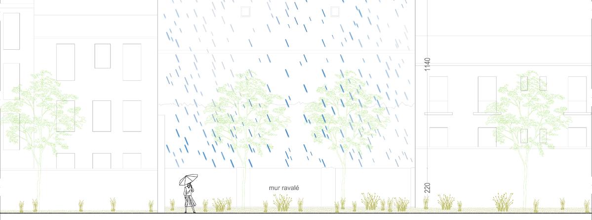 Jour de pluie / concours // sculpture pérenne // 2013
