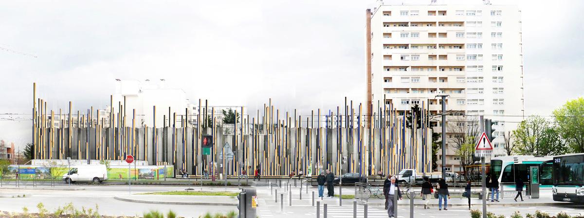 Silo-aimant / Sculpture éphémère // non réalisé /// 2014