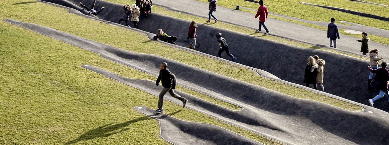 L'enfance du pli / Sculpture-paysage // Meyrin, Suisse /// 2017 – Landezine International Landscape Award WINNER 2020