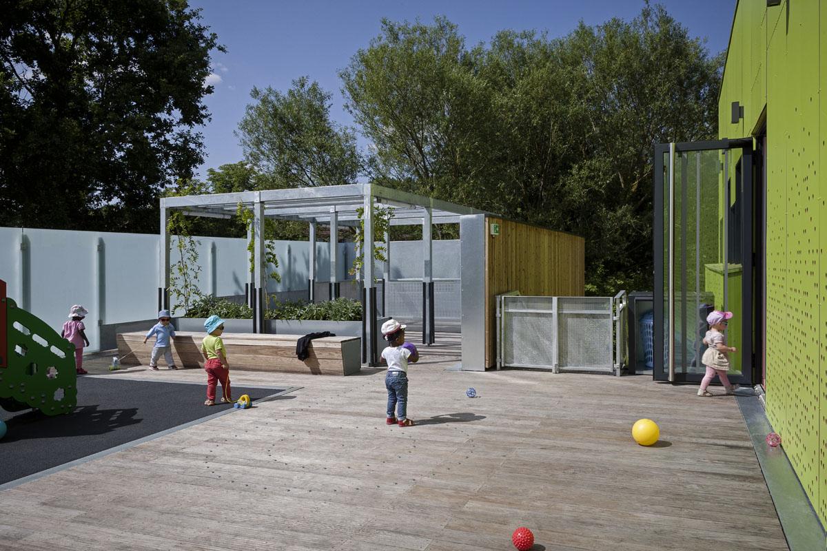 Maison de l'Enfance, Osny (94) - Architecte : Gemaile Rechak- Photographie - Pierre-Yves Brunaud / Picturetank