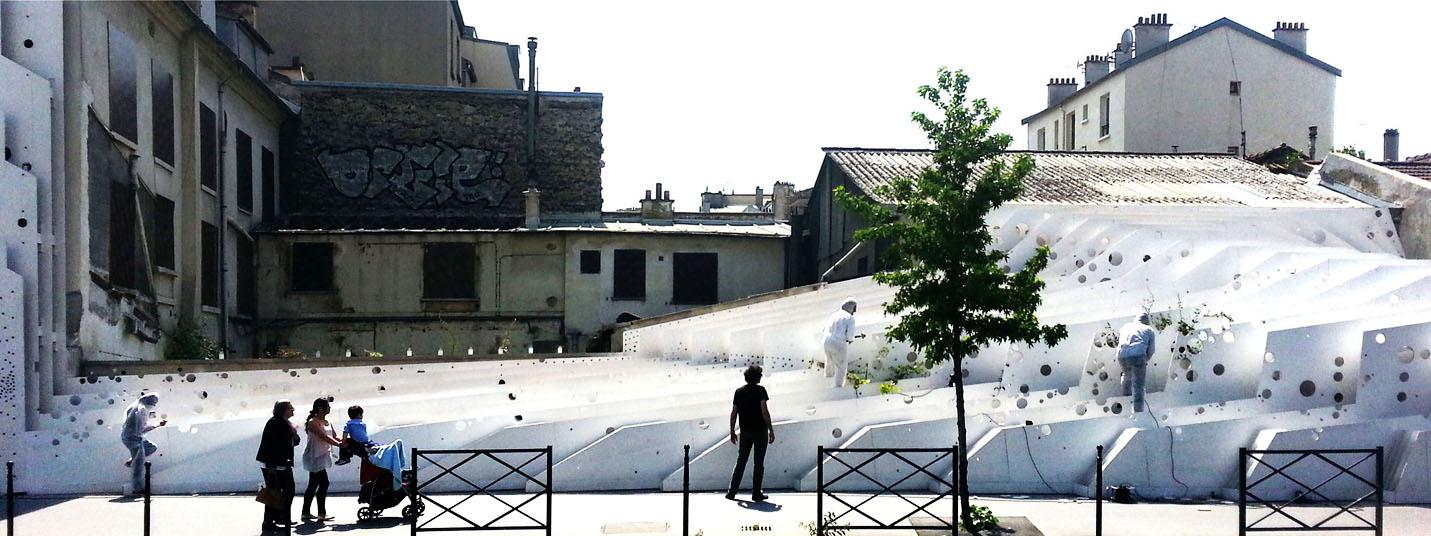 """26 05 2015 / désintégration de la sculpture-paysage """"Tranches de Ville"""" // le 18 06 2015 /// 17 rue martre à Clichy la garenne"""