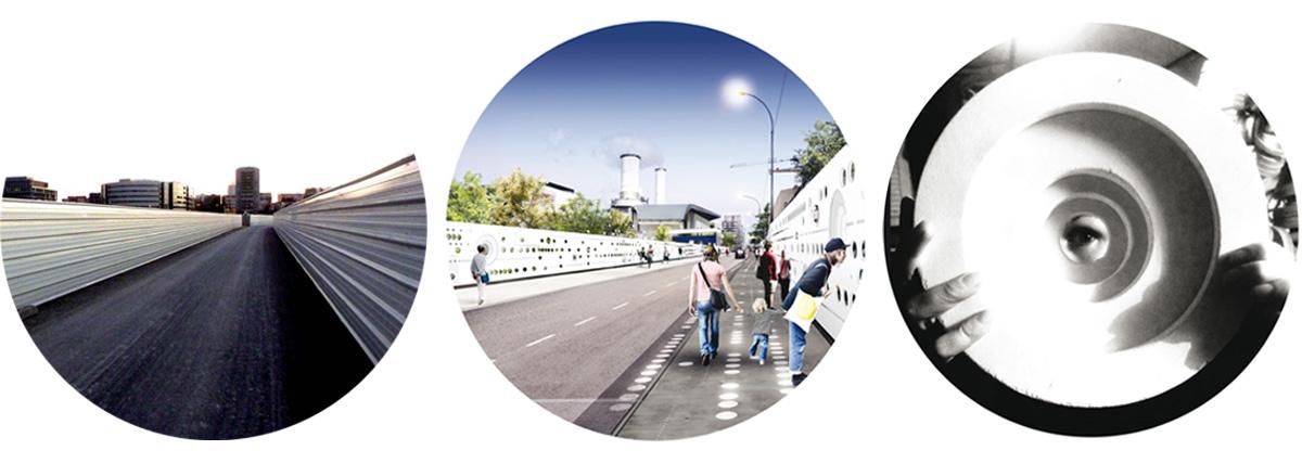 ''Mille points de vues '' / projet artistique – dispositif optique de mise en scène de la ville en chantier // Saint Ouen ///  2015